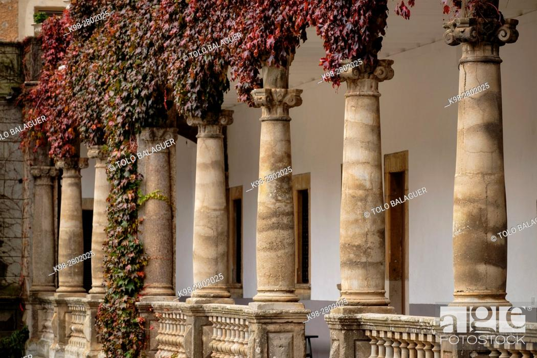 Stock Photo: Lluc, Marian Sanctuary of the Balearic Islands from the 13th century, Escorca, Mallorca, Balearic Islands, Spain.