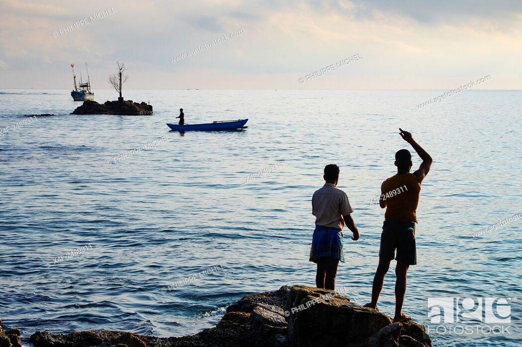 Stock Photo: Sri Lanka, Ceylon, Eastern Province, East Coast, Trincomalee, Dutch bay, Trincomalee beach.