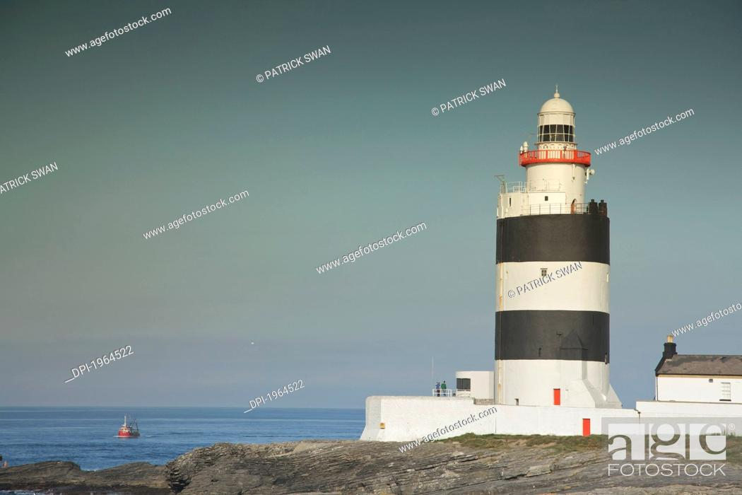 Stock Photo: the hook lighthouse, hook head county wexford ireland.