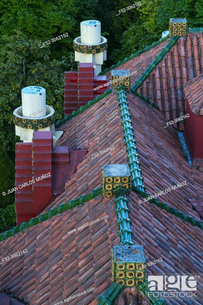 Stock Photo: Villa El Capricho de Gaudí, designed by Antoni Gaudí, built in 1883-1885, Comillas, Cantabria, Spain, Europe.