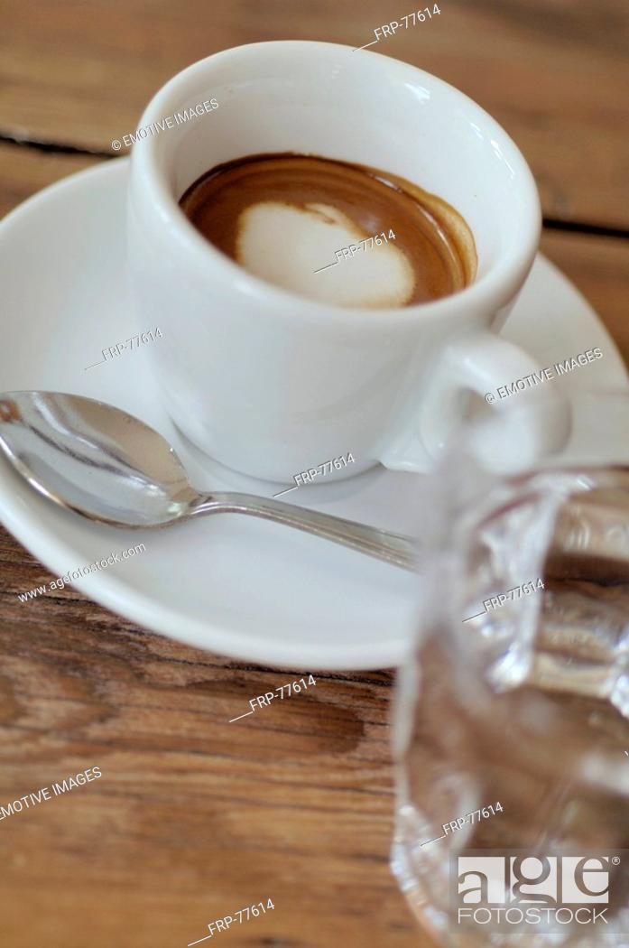 Stock Photo: Espresso with milk froth topping.