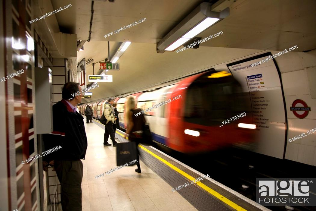 Stock Photo: Waiting for Tube on Leicester Square.