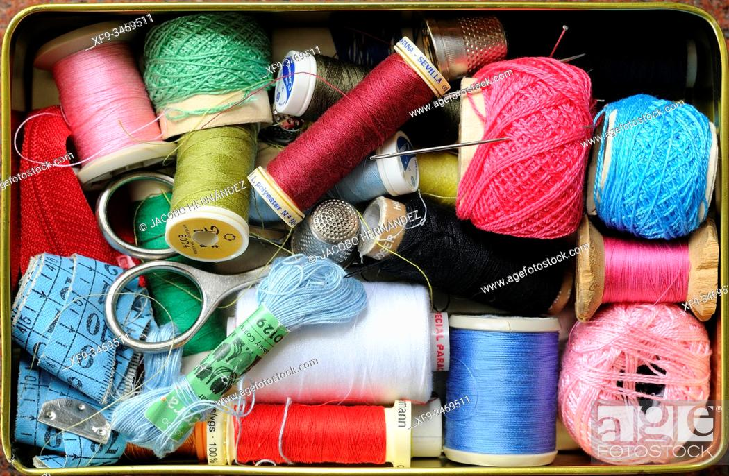 Stock Photo: Sewing box.