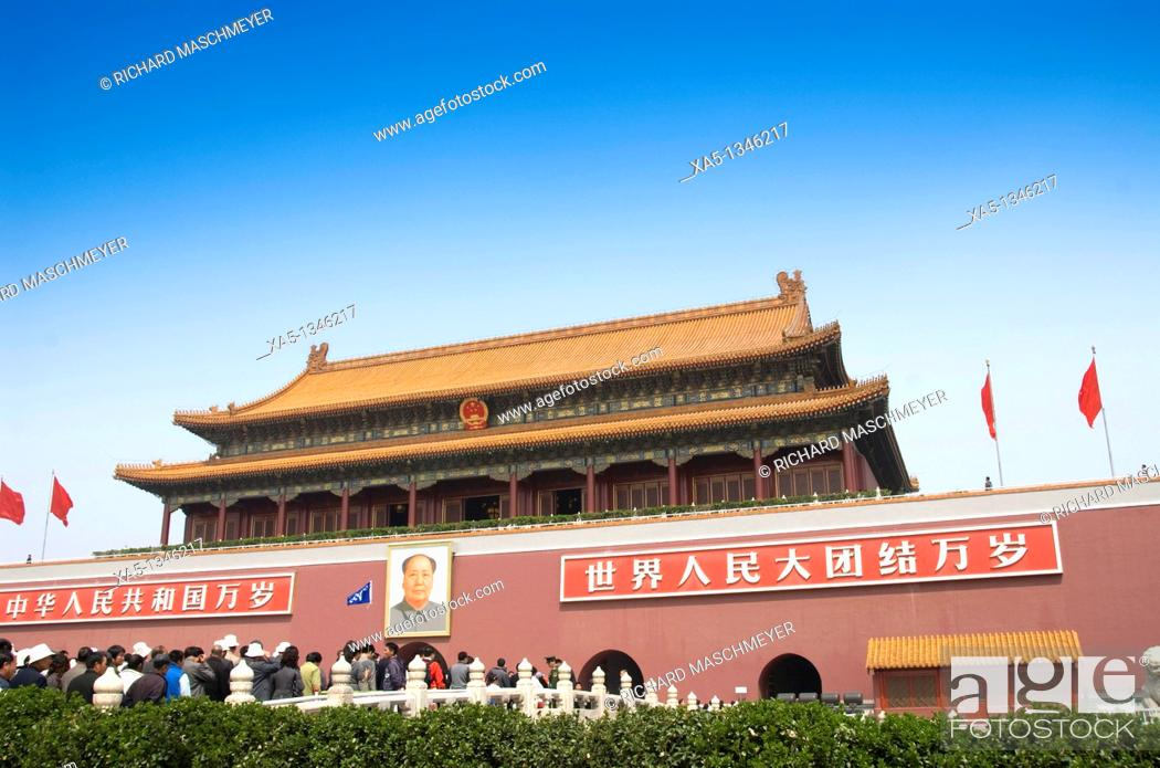 Stock Photo: Gate of Heavenly Peace, Forbbiden City, Beijing, China.