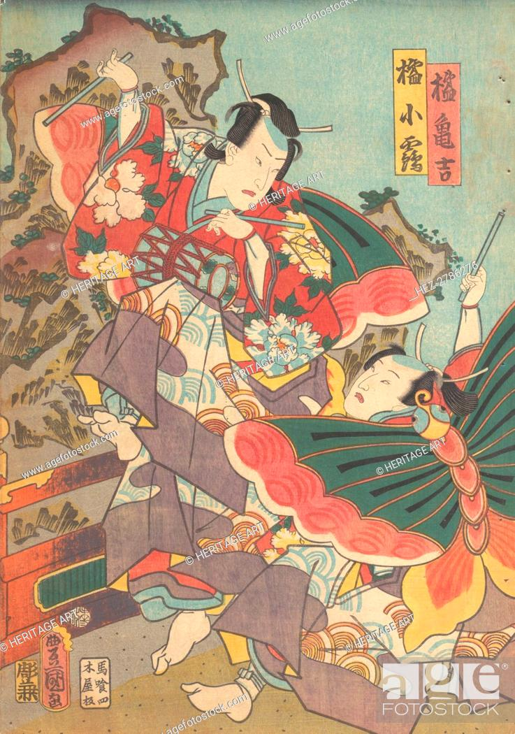 Imagen: Print, 19th century., 19th century. Creator: Utagawa Kunisada.