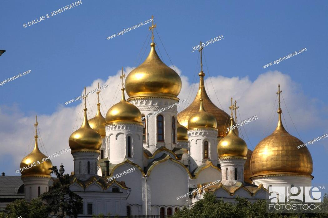 Stock Photo: Russia, Moscow, The Kremlin, The Annunciation Cathedral.