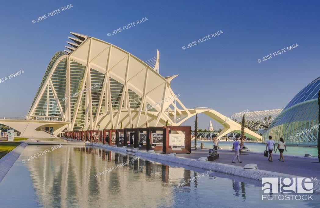 Stock Photo: Spain, Valencia City, The City of Arts and Science, Calatrava architect.