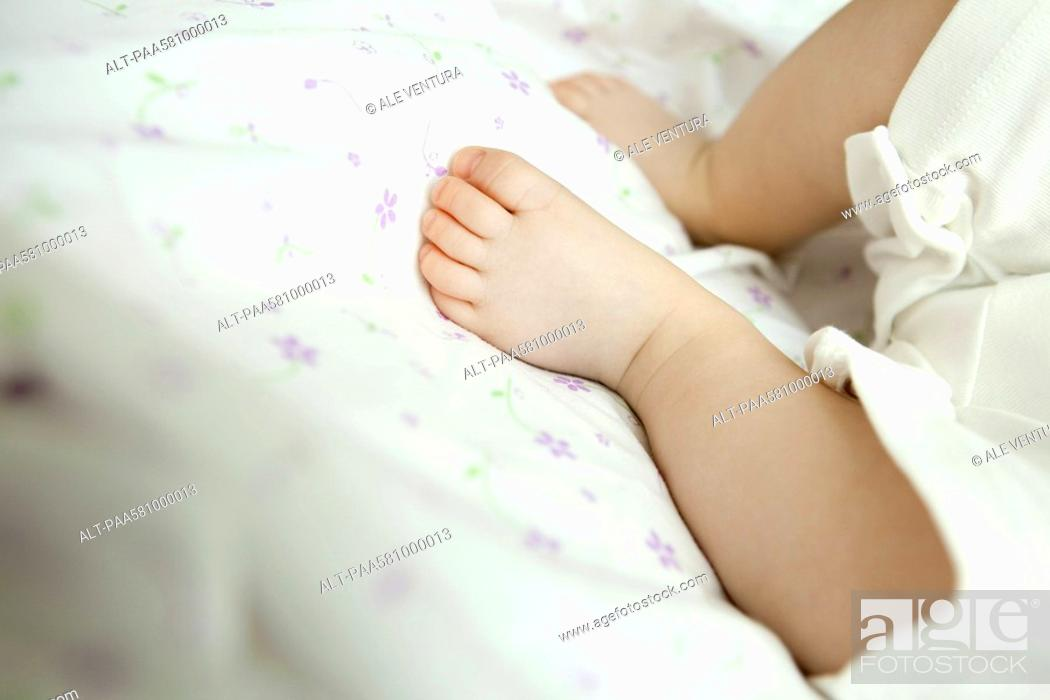 Stock Photo: Infant's foot.