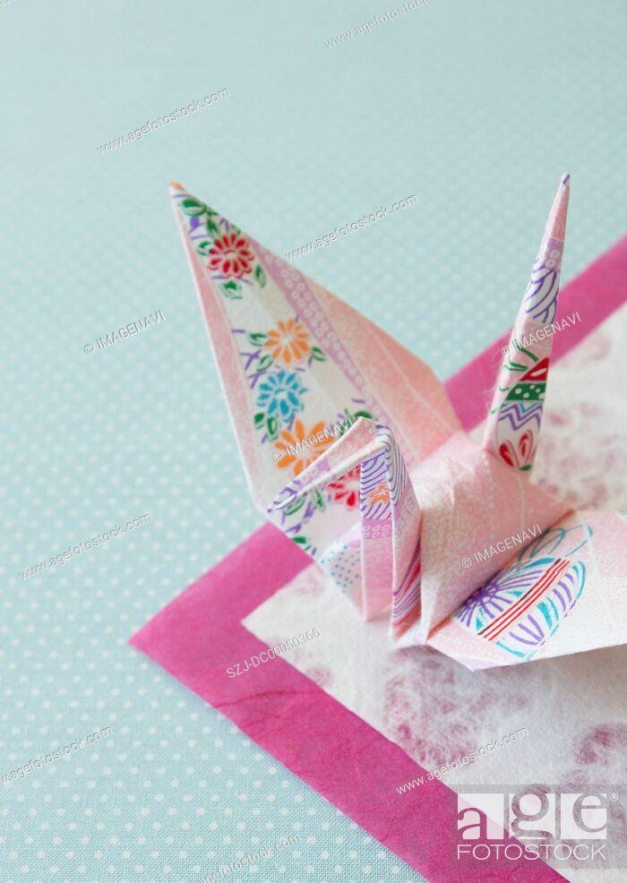 Stock Photo: Paper crane.