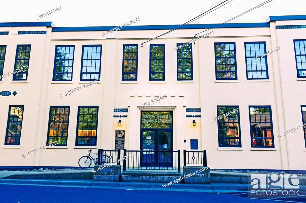 Stock Photo: Sitka Sound Science Center at the old Sheldon Jackson College campus in Sitka, Alaska, USA. The Sitka Sound Science Center, a 501(c)(3) nonprofit corporation.