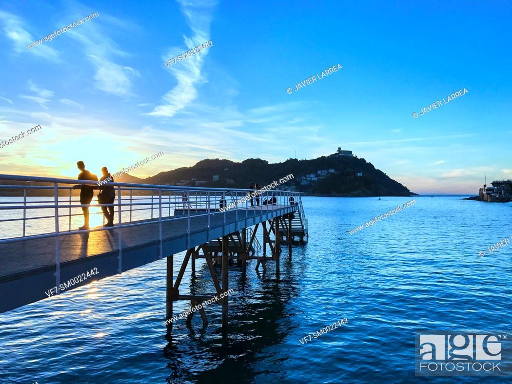 Stock Photo: La Concha bay, Club Nautico, San Sebastian, Donostia, Gipuzkoa, Basque Country, Spain, Europe.