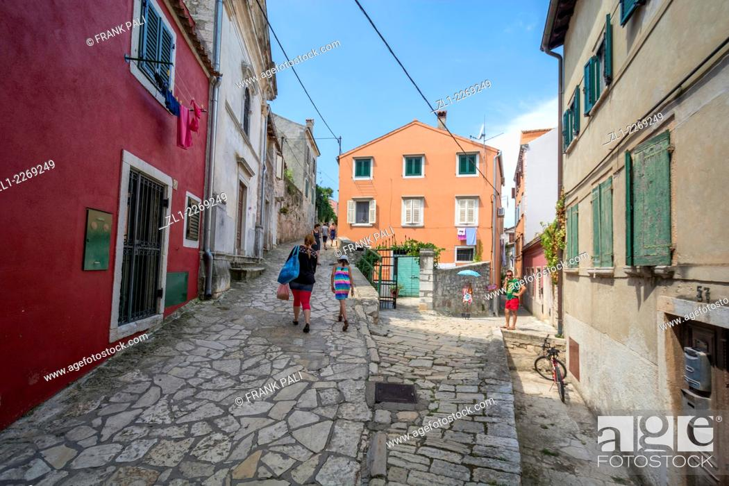 Stock Photo: Romantic Rovinj is a town in Croatia situated on the north Adriatic Sea Located on the western coast of the Istrian peninsula.
