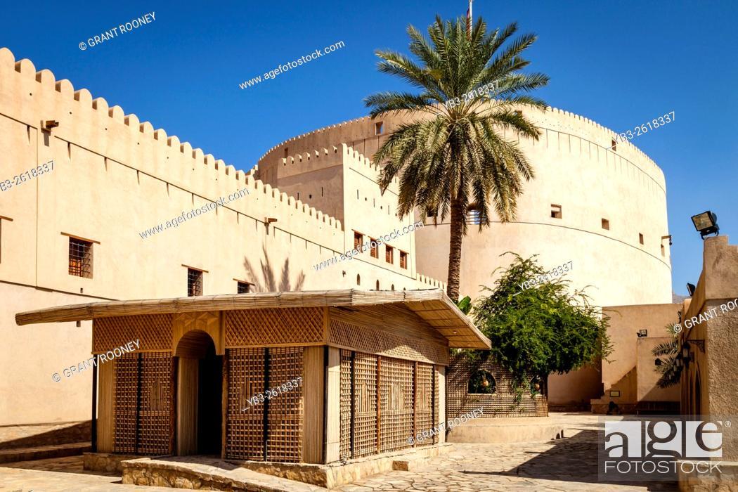 Stock Photo: The Exterior Of Nizwa Fort, Nizwa, Ad Dakhiliyah Region, Oman.