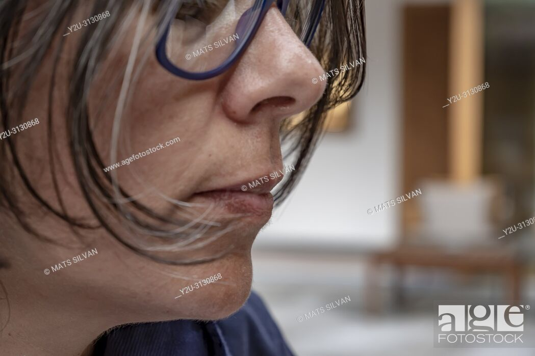 Stock Photo: Woman with Eyeglasses.