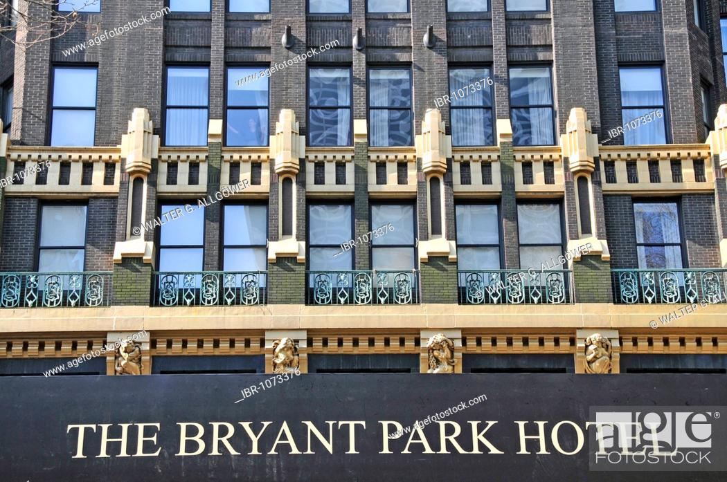 Bryant Park Hotel 4 Stars Bryant Park Manhattan New York City Usa Stock Photo Picture And Rights Managed Image Pic Ibr 1073376 Agefotostock