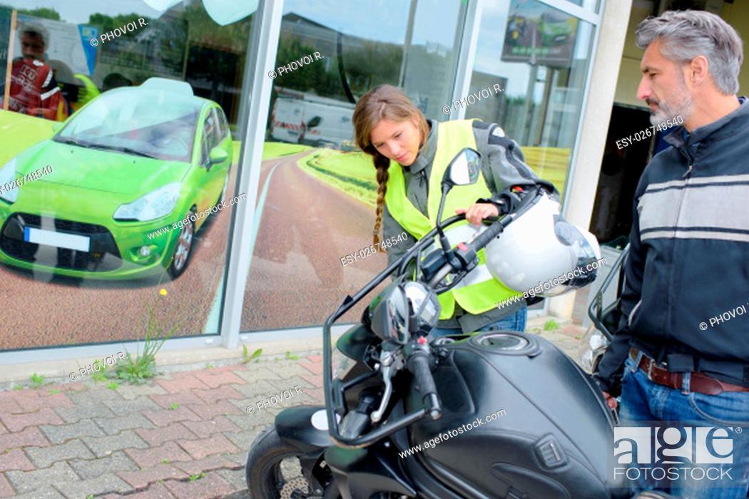 Stock Photo: motorbike driving.