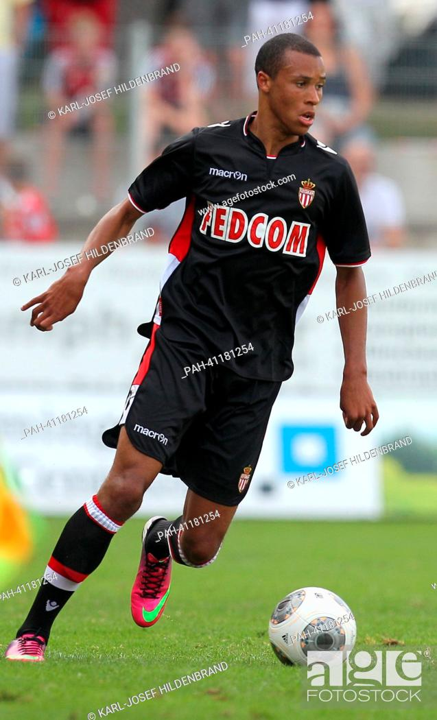 Stock Photo: Monaco's player Marcel Tisserand in action during the soccer test match between FC Augsburg and AS Monaco in Memmingen, Germany, 20 July 2013.
