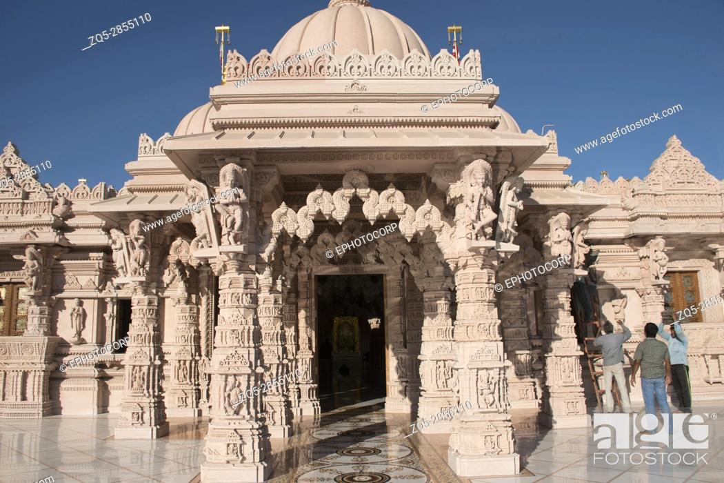 Stock Photo: Front entrance, BAPS Swaminarayan Mandir, Katraj, Pune.