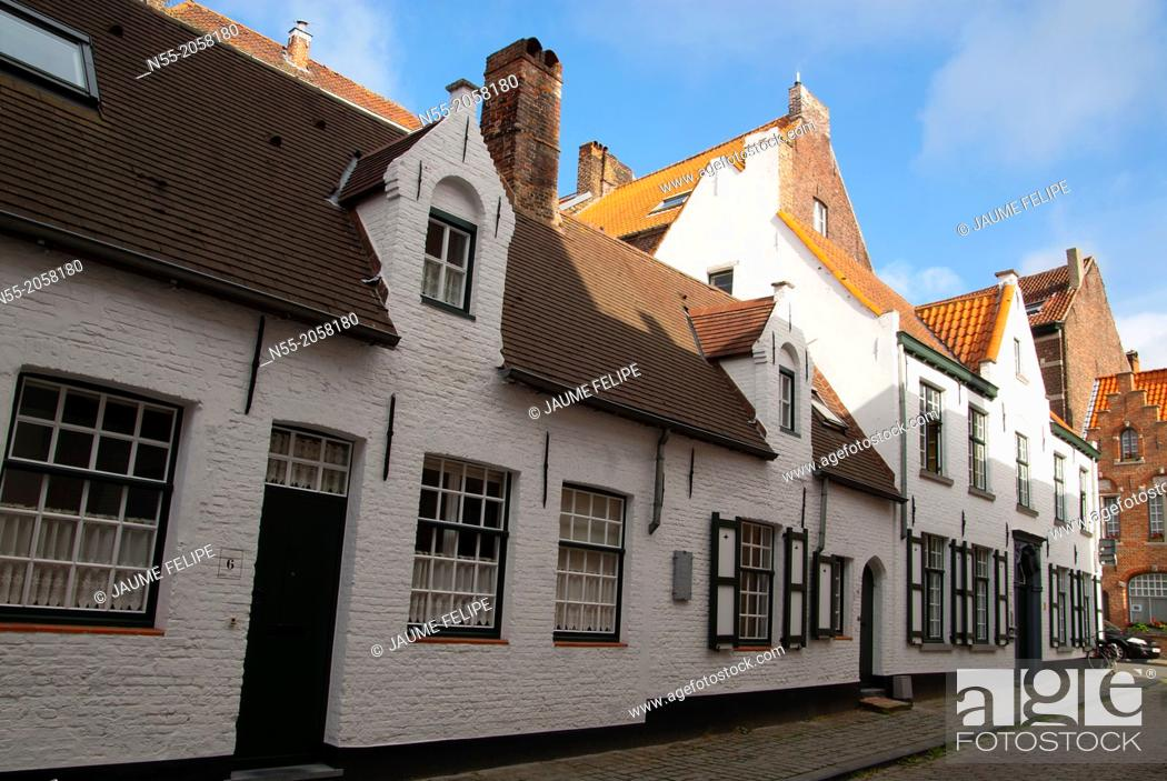 Stock Photo: Houses. Bruges, West Flanders, Belgium.