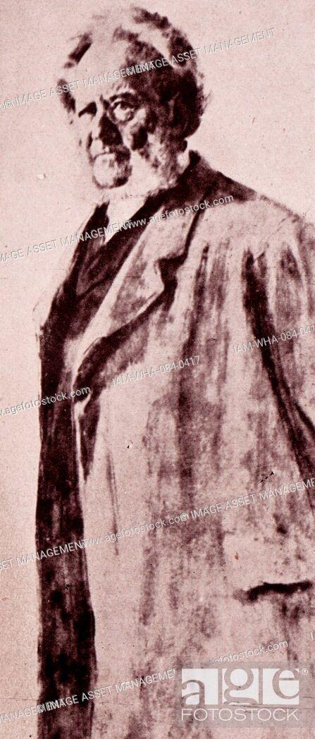 Stock Photo: Portrait of Bjørnstjerne Bjørnson (1832-1910) a Norwegian writer and Nobel Prize Laureate in Literature. Dated 20th Century.