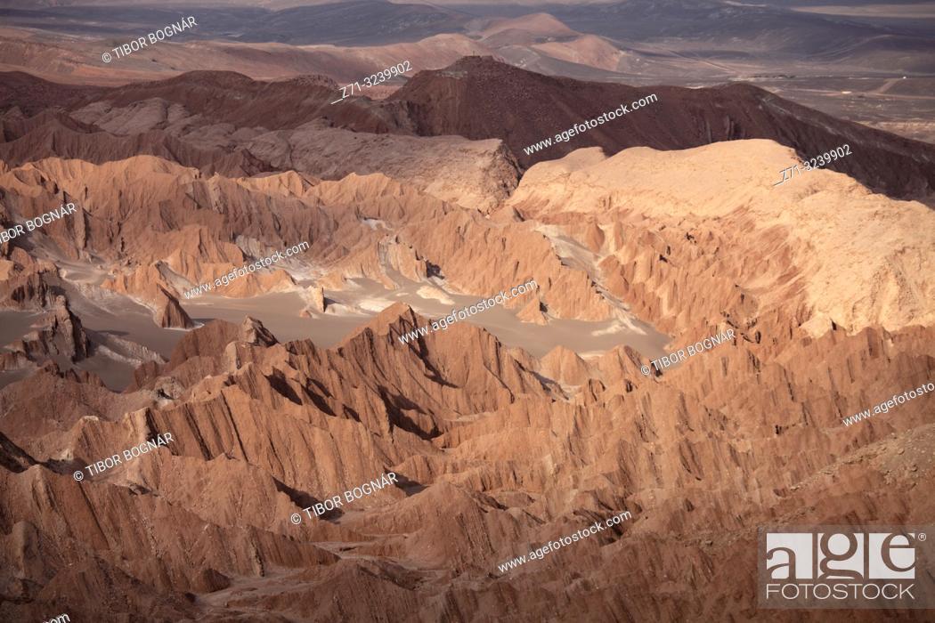 Photo de stock: Chile, Antofagasta Region, Atacama Desert, Valle de Marte; Valle de la Muerte,.