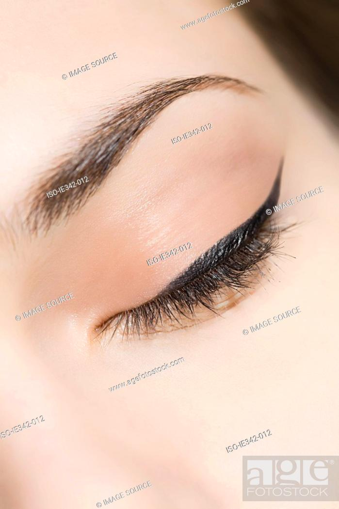 Stock Photo: Woman with eyeliner.