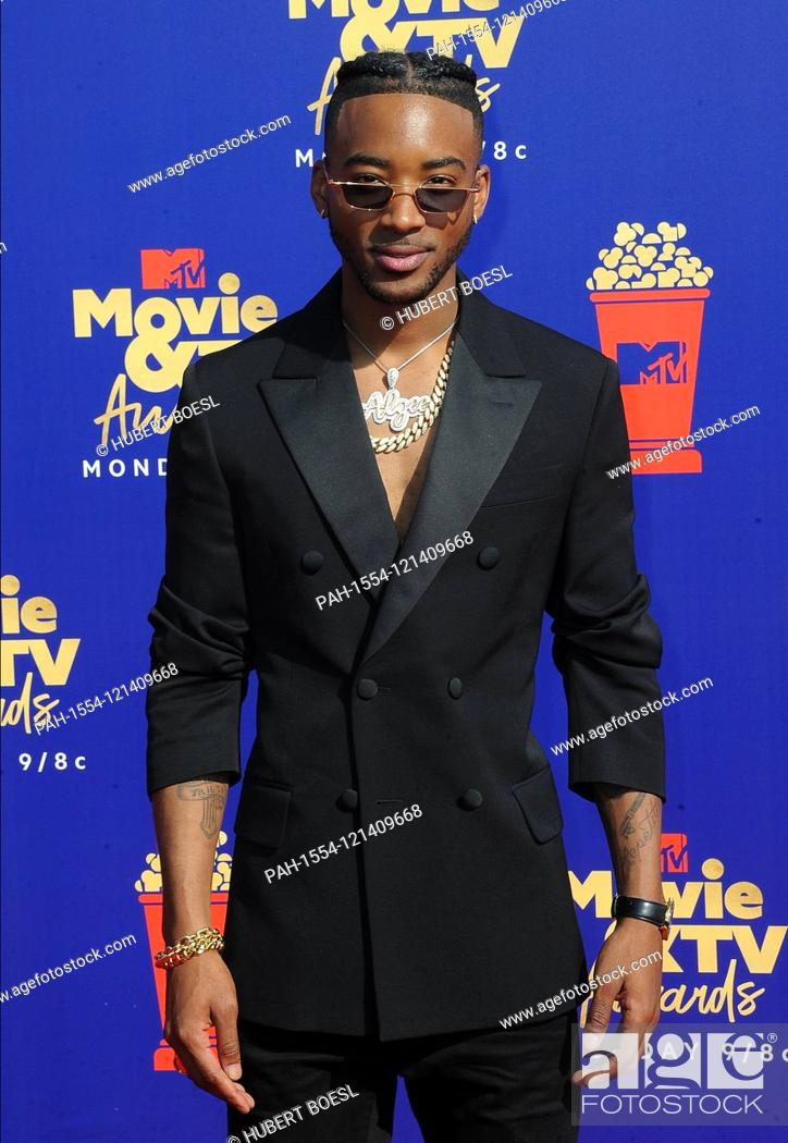 Imagen: Algee Smith attends the 2019 MTV Movie & TV Awards at Barker Hangar in Los Angeles, USA, on 15 June 2019. | usage worldwide.