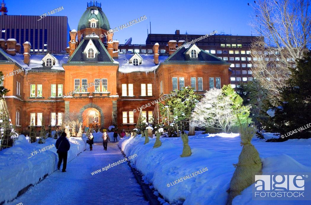 Stock Photo: Former Hokkaido Government, Sapporo, Hokkaido, Japan.