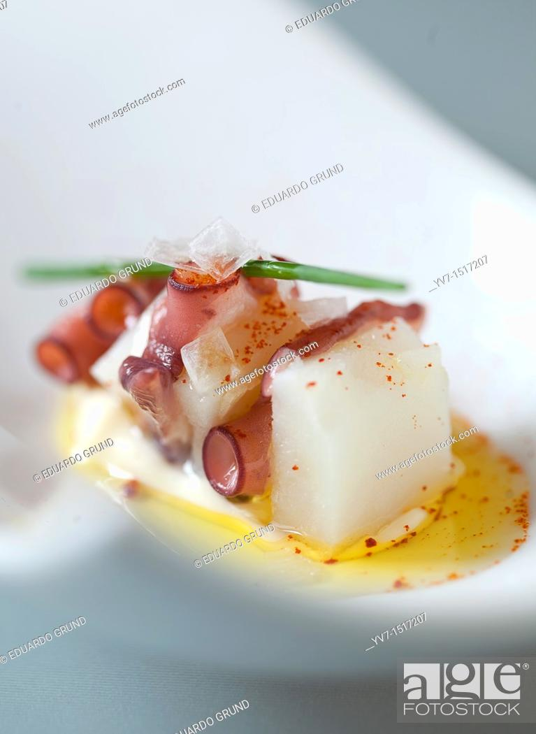 Stock Photo: Octopus with paprika and olive oil.