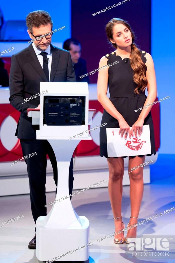 actress and model matilde gioli and tv host fabio fazio in the studios of the game show rischiatutto stock photo picture and rights managed image pic mdo 5207614 agefotostock https www agefotostock com age en stock images rights managed mdo 5207614
