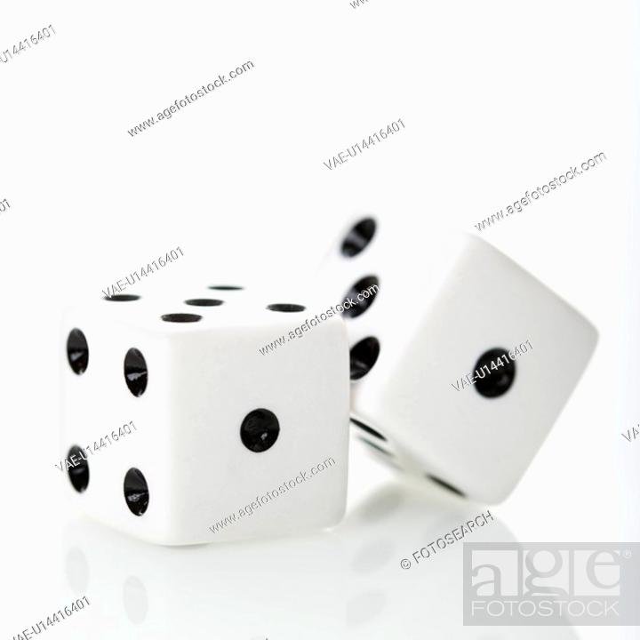 Stock Photo: Two white dice.