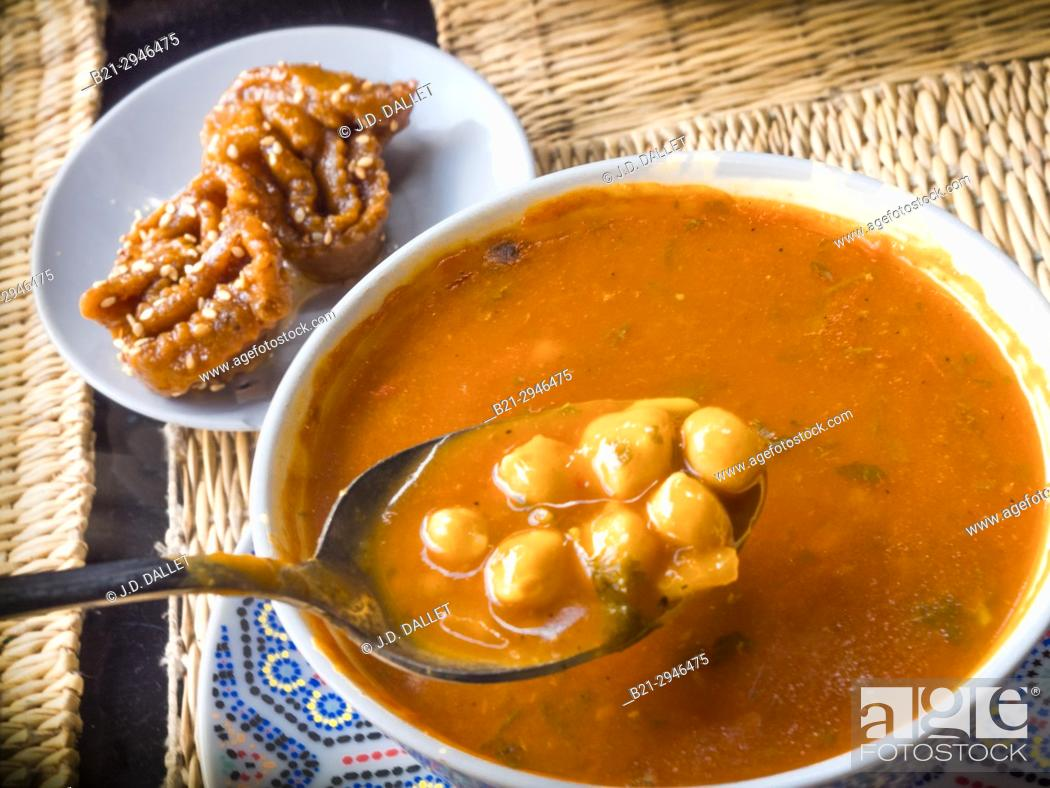 "Stock Photo: Morocco, Food, """"Harira"""" soup, a special for the Ramadan months."