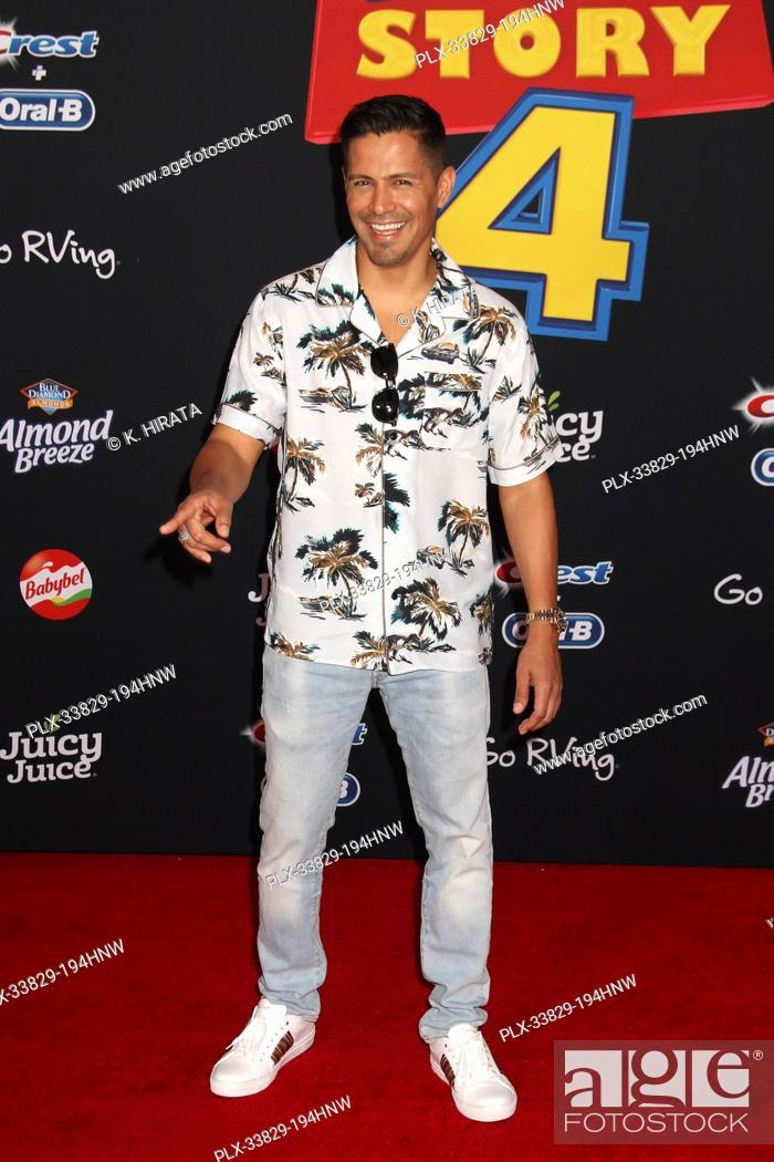 """Stock Photo: Jay Hernandez 06/11/2019 """"""""Toy Story 4"""""""" Premiere held at the El Capitan Theatre in Hollywood, CA Photo by K. Hirata / HNW / PictureLux."""