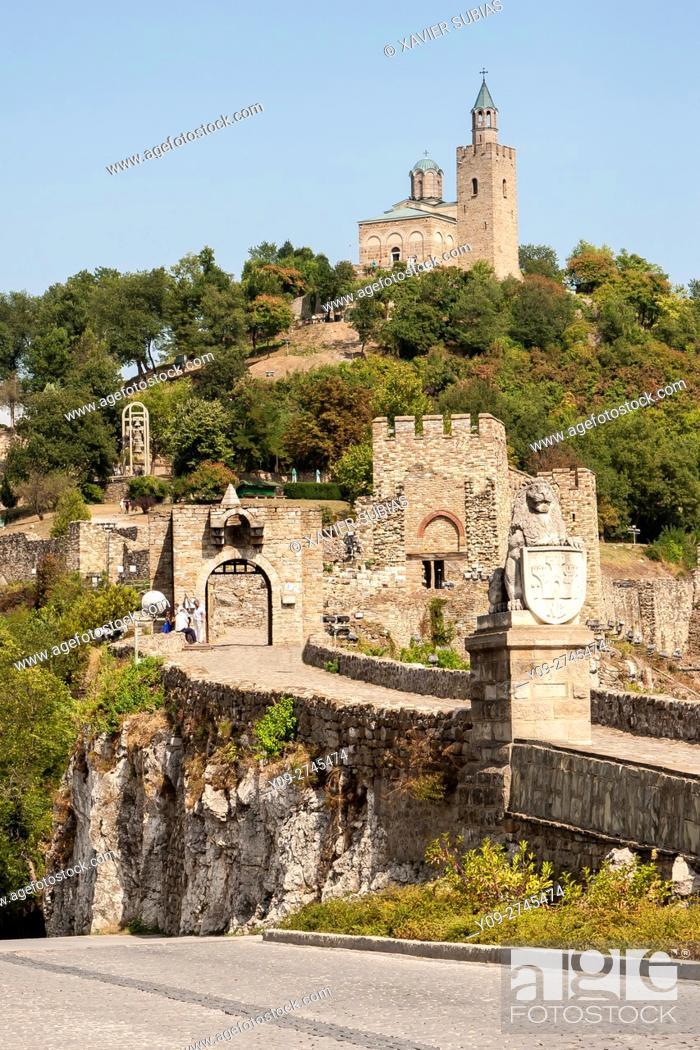 Stock Photo: Tsarevets Fortress, Veliko Tarnovo, Bulgaria.