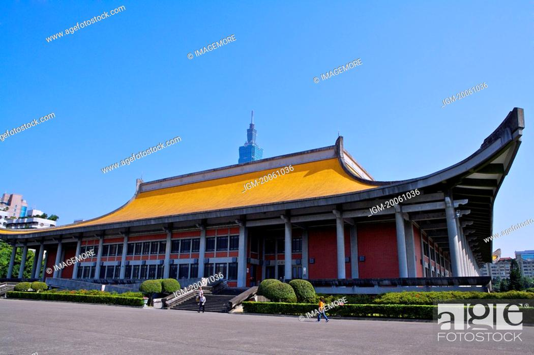 Stock Photo: Taiwan, Taipei, Dr. Sun Yat-Sen Memorial Hall.
