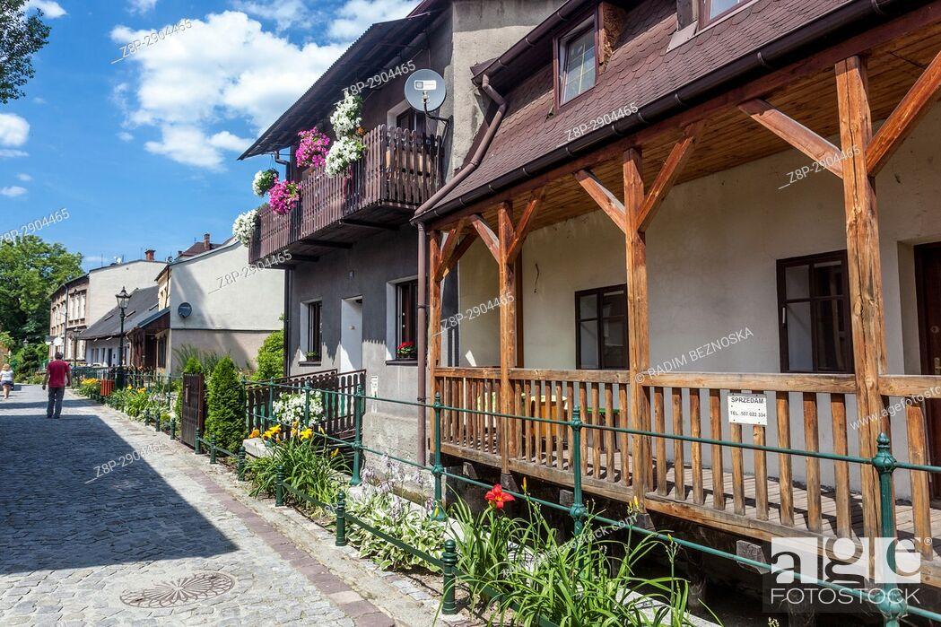 Imagen: Przykopa street. Residential complex called â. žCieszyn Veniceâ. . . Cieszyn, Poland.