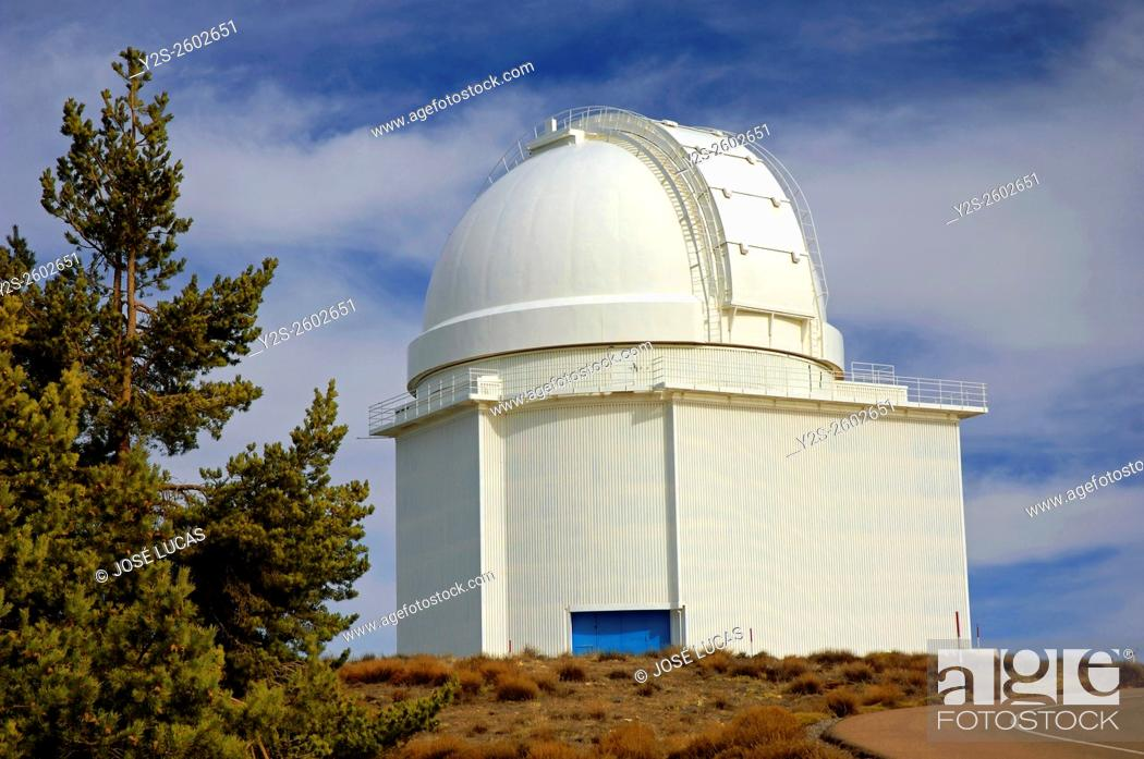 Stock Photo: Calar Alto Astronomical Observatory (German-Spanish), Almeria province, Region of Andalusia, Spain, Europe.