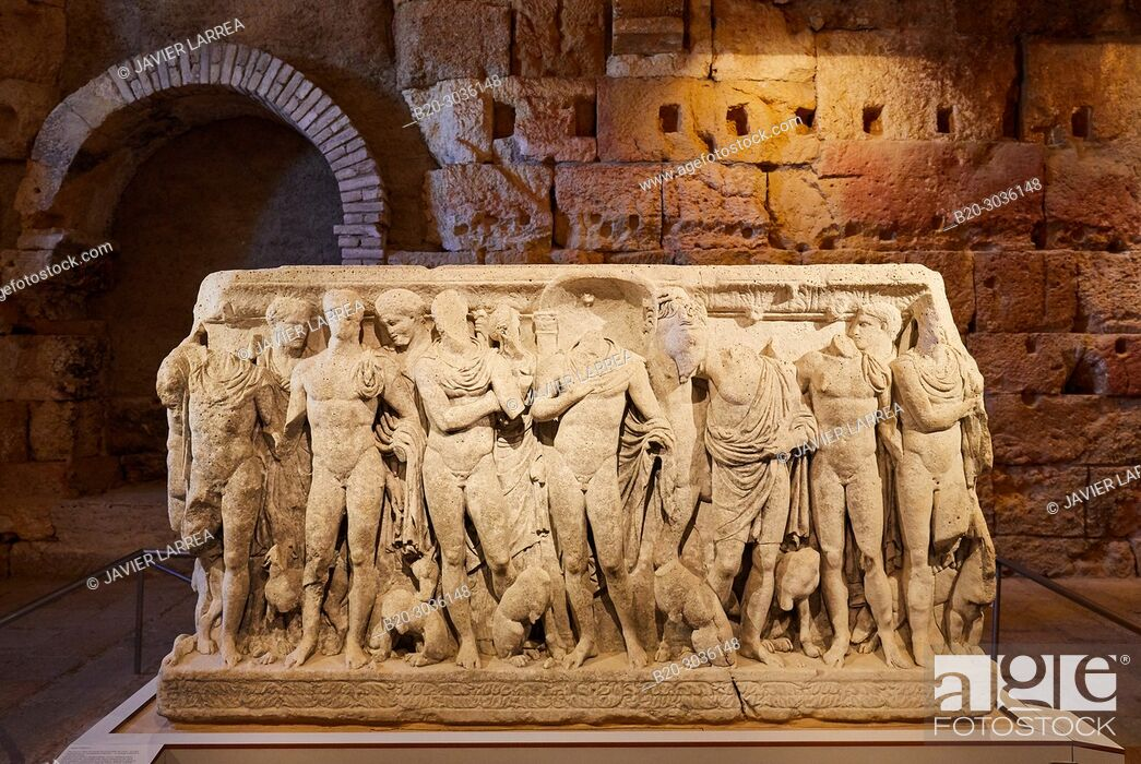 Stock Photo: Roman Praetorium, History Museum of Tarragona (MHT), Tarragona City, Catalonia, Spain, Europe.