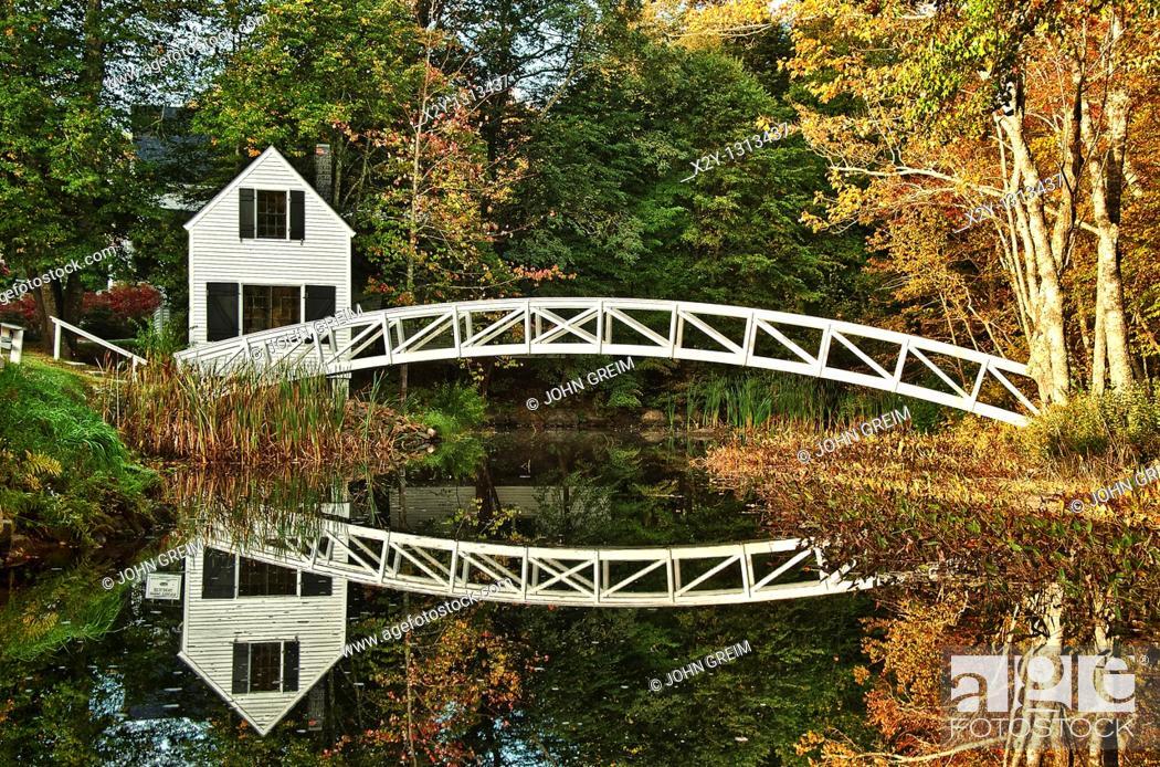 Imagen: Footbridge, Somesville, Maine, ME, USA.