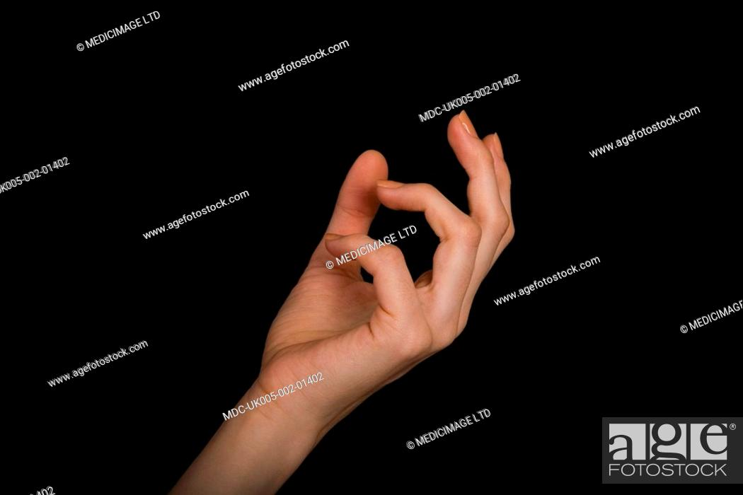 Stock Photo: Out stretched hand.