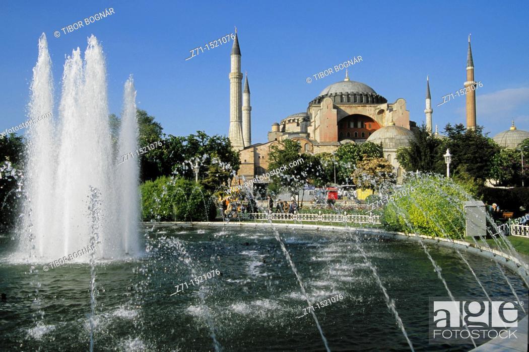 Stock Photo: Hagia Sophia former mosque, Istanbul, Turkey.