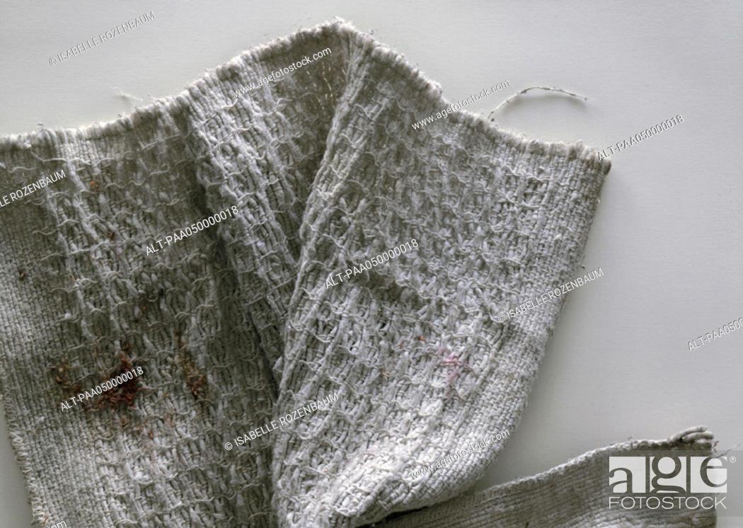 Stock Photo: Floorcloth, close-up.
