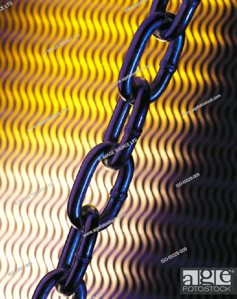 Stock Photo: Metal chain.