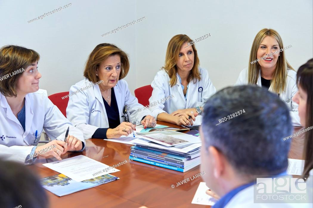 Stock Photo: Hospital management meeting, Clinical session, Hospital Donostia, San Sebastian, Gipuzkoa, Basque Country, Spain.