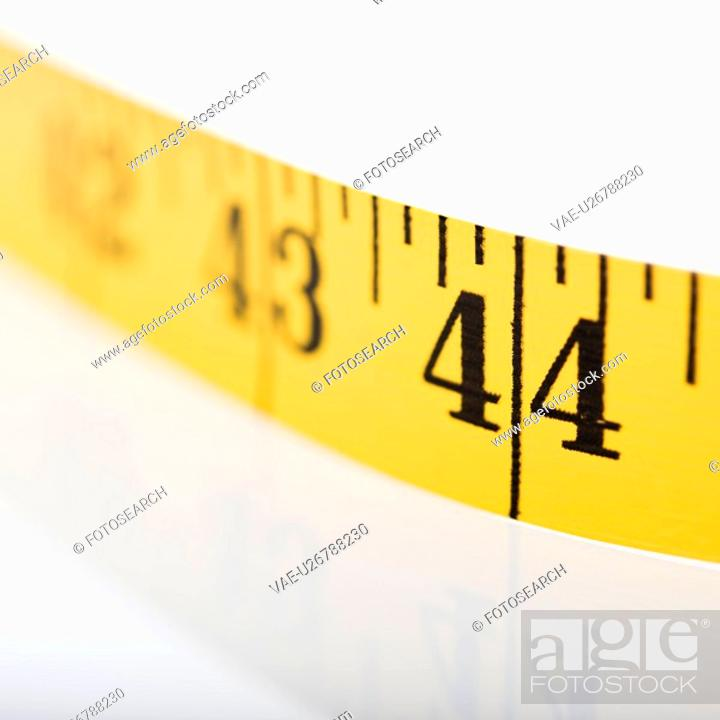 Stock Photo: Selective focus of measuring tape.