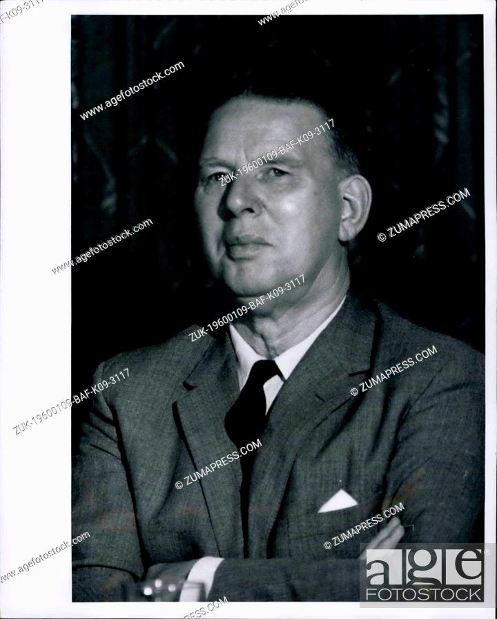 Imagen: 1958 - Arthur Bottomley: Commonwealth Relations Secretary - shown at Mr. Wilson's Press Conference this morning at the Ambassador Hotel in Salisbury, Rhodesia.