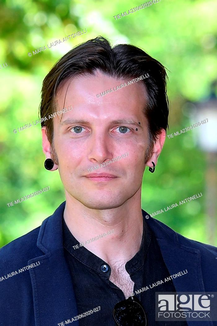 Stock Photo: Director Francesco Fanuele during the photocall of film ' Il Regno' (The Kingdom) , Rome, ITALY-23-06-2020.