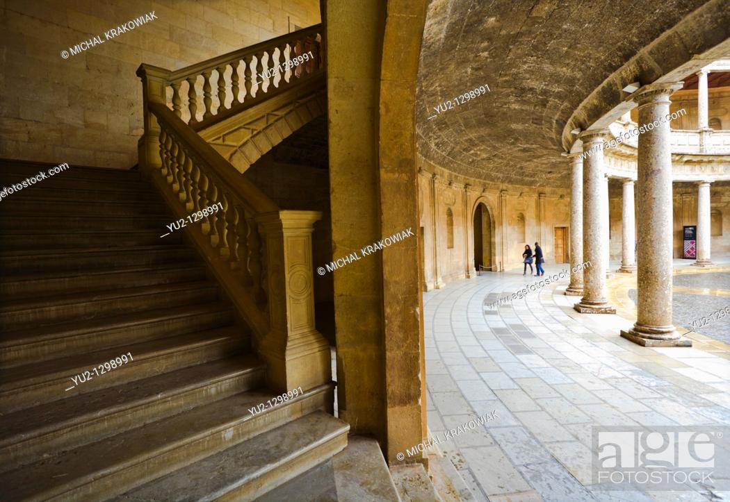 Stock Photo: Palacio de Carlo V in Alhambra complex Granada, Spain.