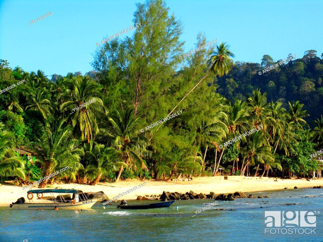 Stock Photo: Salang Beach Tioman Island Malaysia.