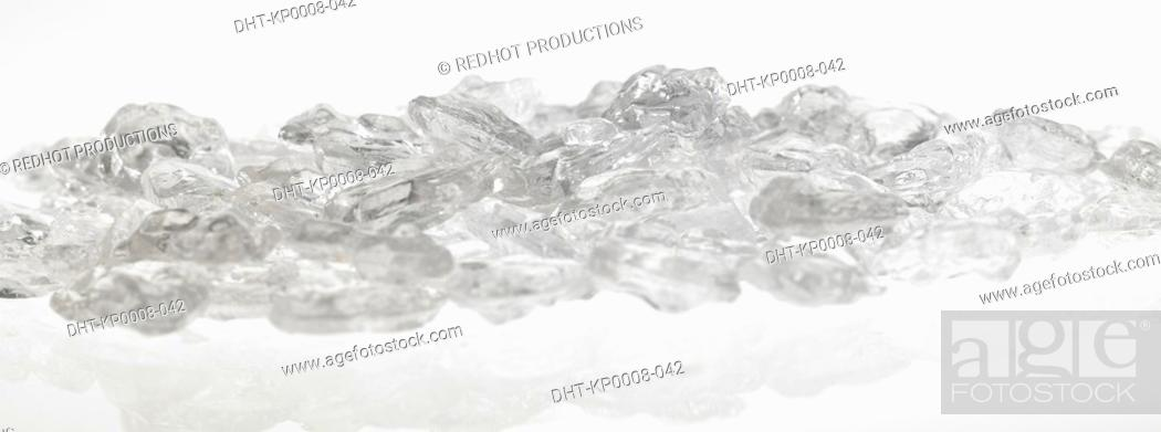 Stock Photo: Ice Cubes in a pile.